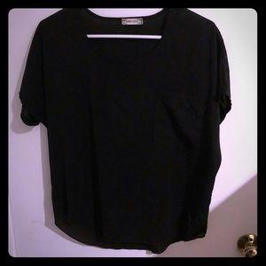 Liva girl black blouse fits like medium